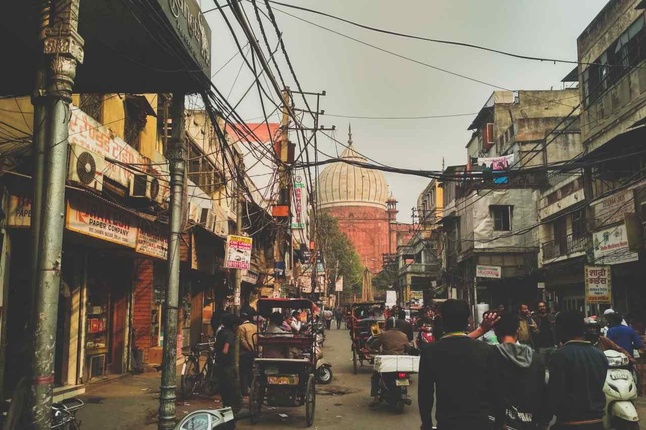 A busy street.