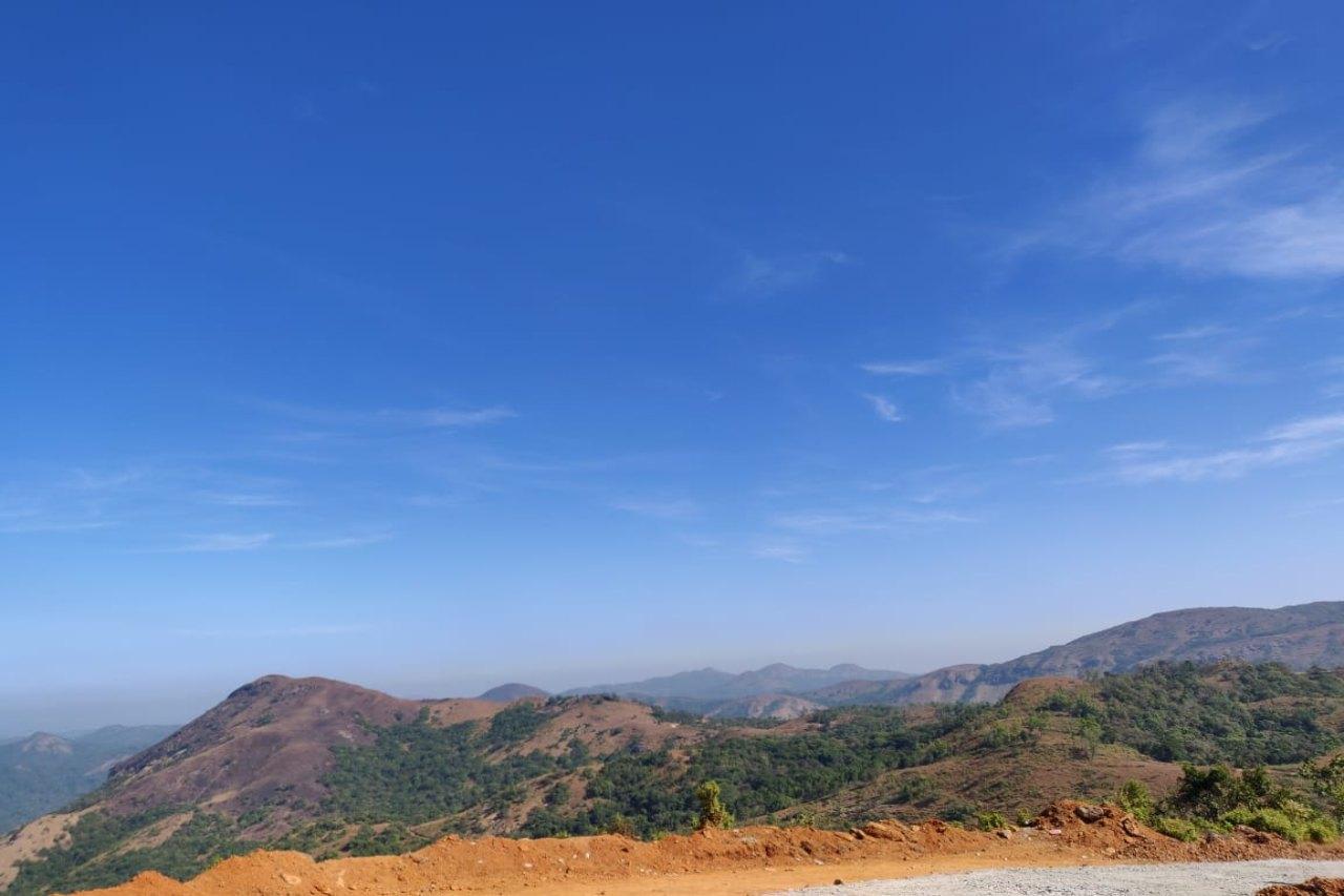 A hilltop overlooking plains
