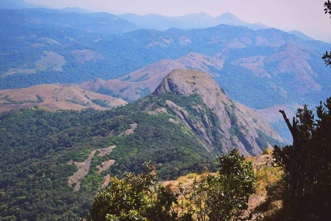 View of mountain ranges